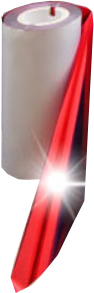 RED FOIL SHINY METALLIC 65mm X 300M