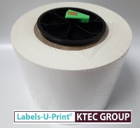 White gloss with block out  cover over adhesive ink paper roll for LX610e 125mm x 47M