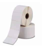 AJetF White ink jet paper label - rubber permanent adhesive - white glassine liner
