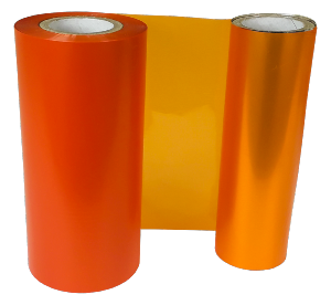 SAVILLE ORANGE SPOT COLOUR RIBBON 110mm X 200M