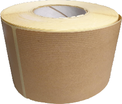 Brown wrapping paper look label 130mm x 150M lot of 50 rolls
