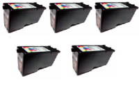 Deal - PRI53374 LX500 Colour Ink CYM Cartridge  x 5