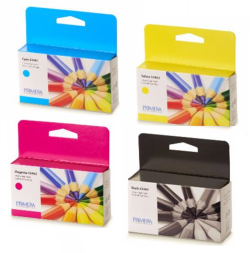 4 Pack RAINBOW CYMK Pigment Ink Cartridge  Primera LX1000e & LX2000e printer