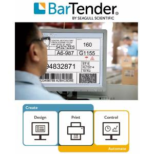 BarTender Network AUTOMATION  add extra printer license (requires 1 Application designer license)
