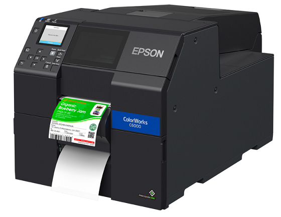 "Epson ColorWorks C6000Pe - 4"" Durable Colour Label Printer + Guillotine - free warranty and training"